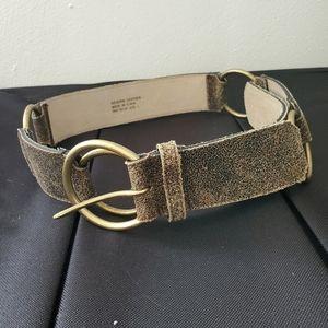Genuine Leather Ring Belt